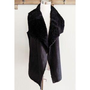 Romeo Juliet Couture black faux suede vest